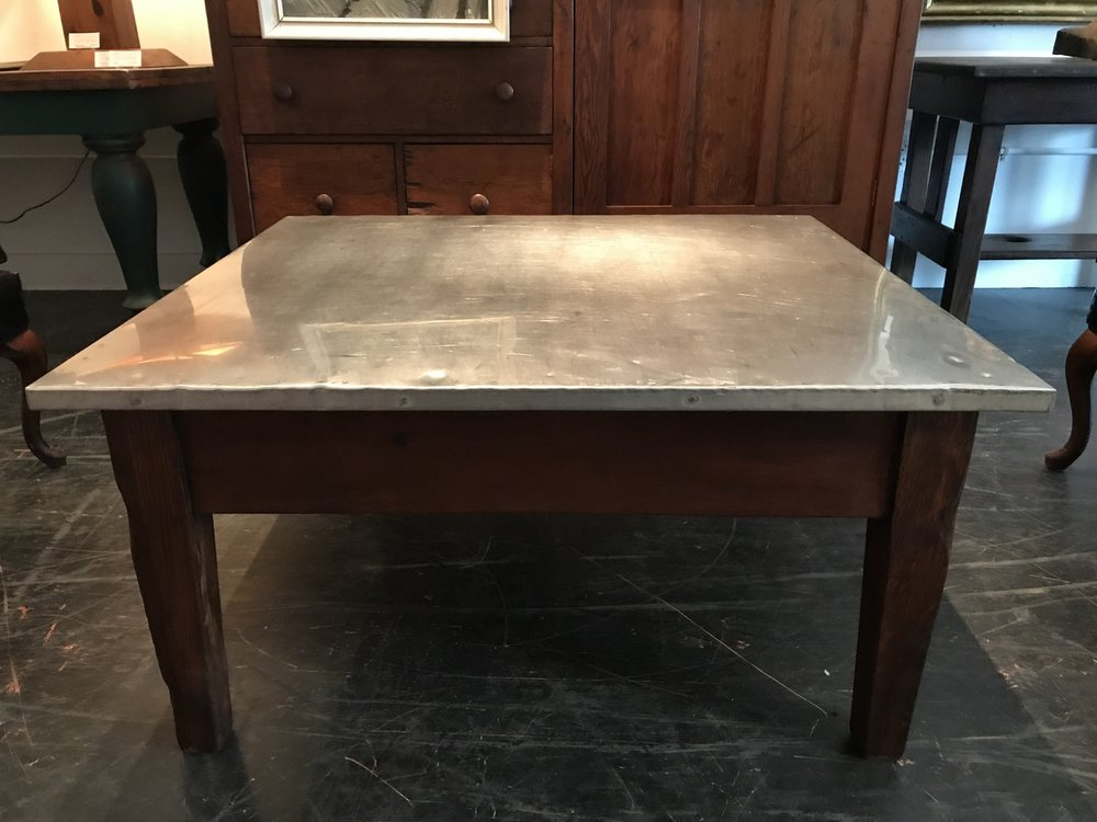Aluminum Capped Cocktail Table