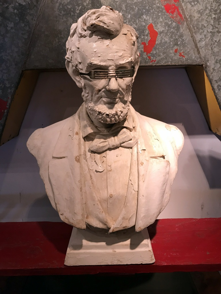 Chalkware Lincoln Bust