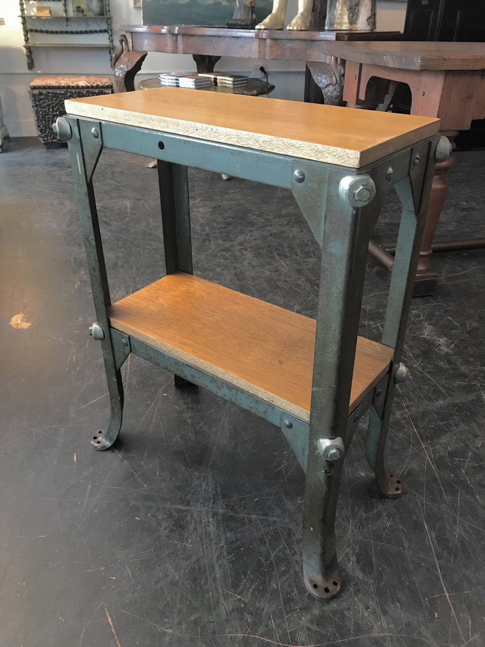 Small Industrial Side Table