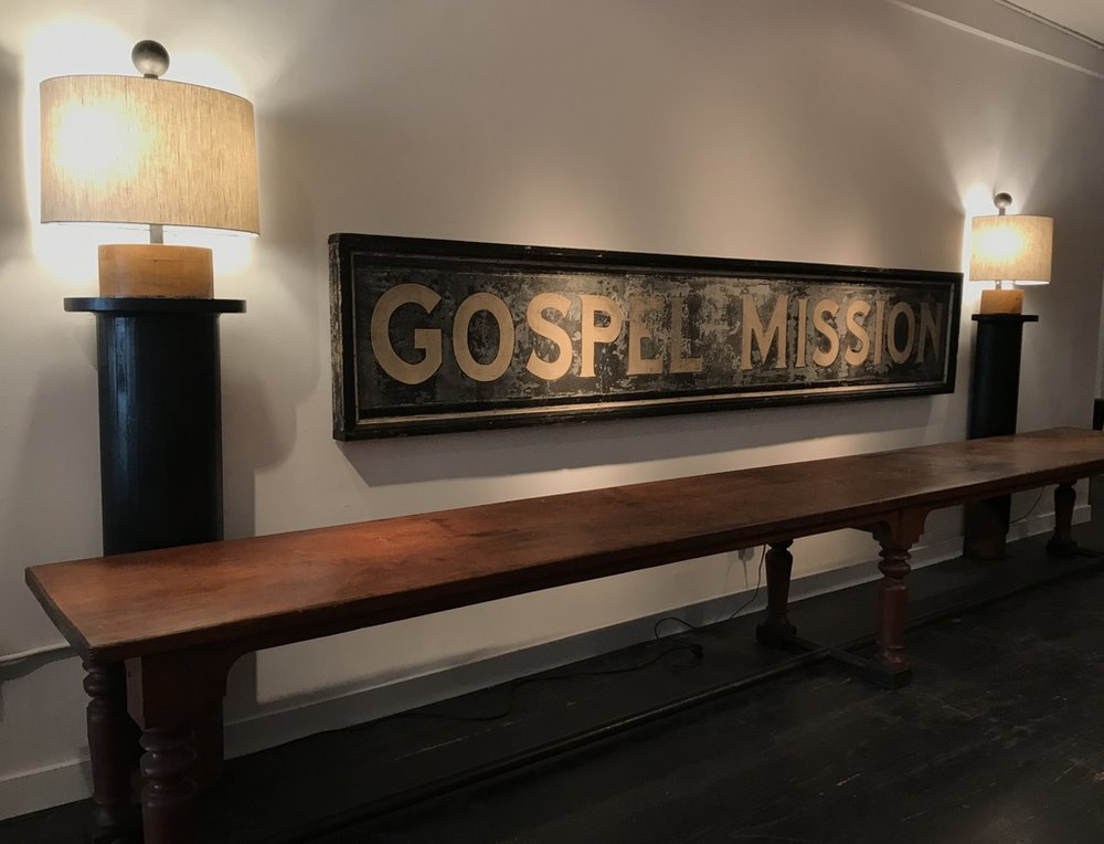 30's Depression Era Mission Sign