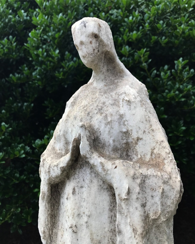 Weathered Marble Virgin Mary