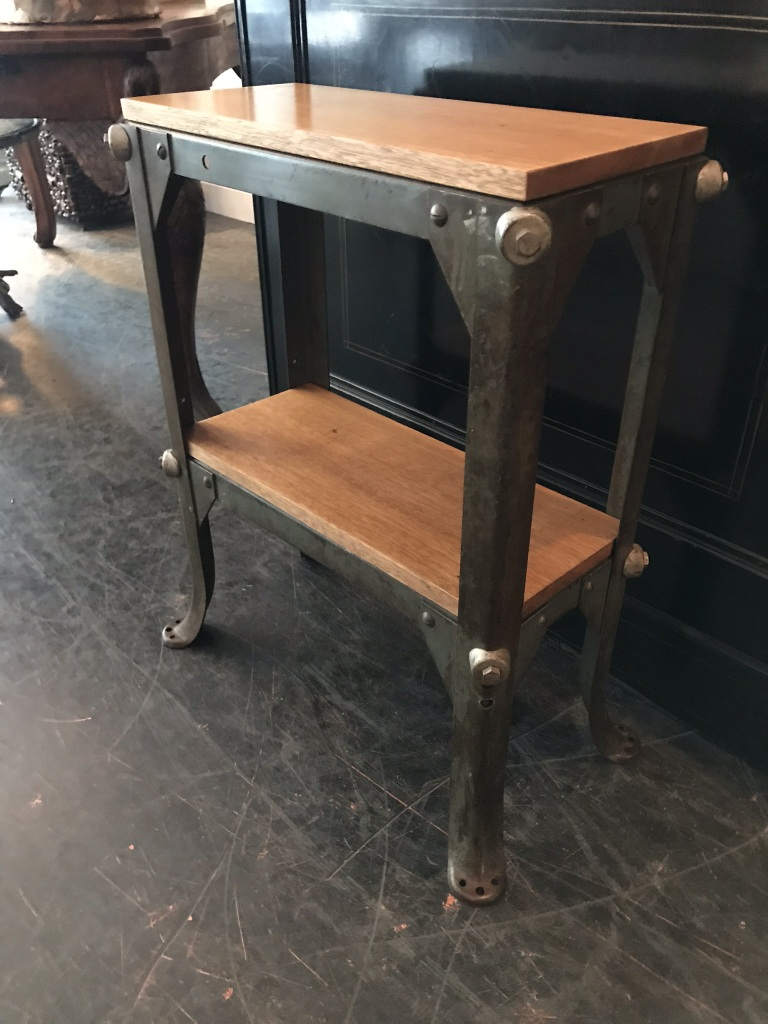 Two-Tier Industrial Side Table