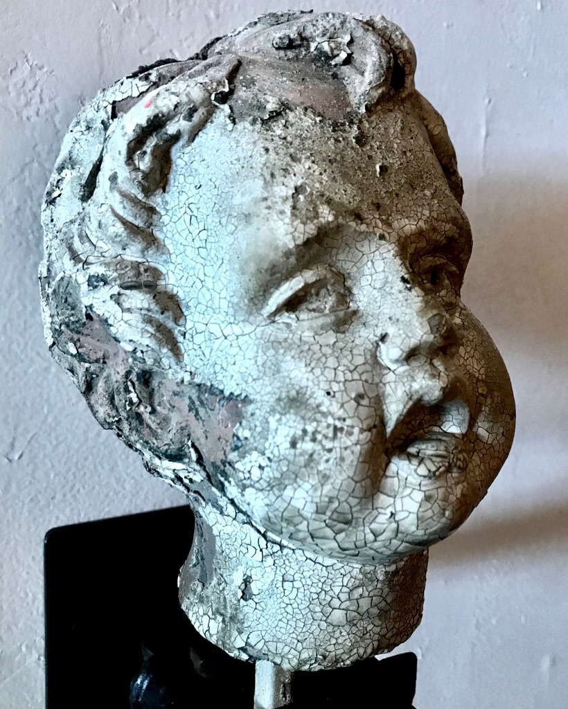 19th C. Terracotta Cherub Head