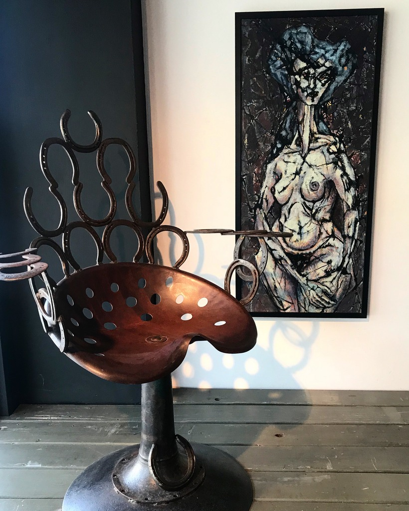 Female Nude w/ Horseshoe Chair
