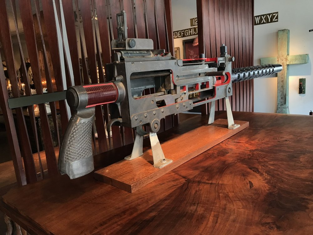 Machine Gun Cutaway Model