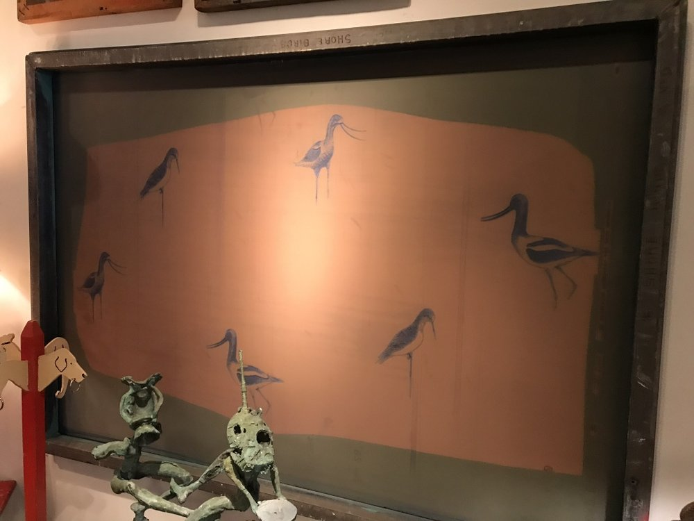 Shorebird Wallpaper Printing Screen