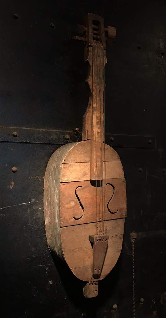 Mid 19th C. Folk Art Guitar