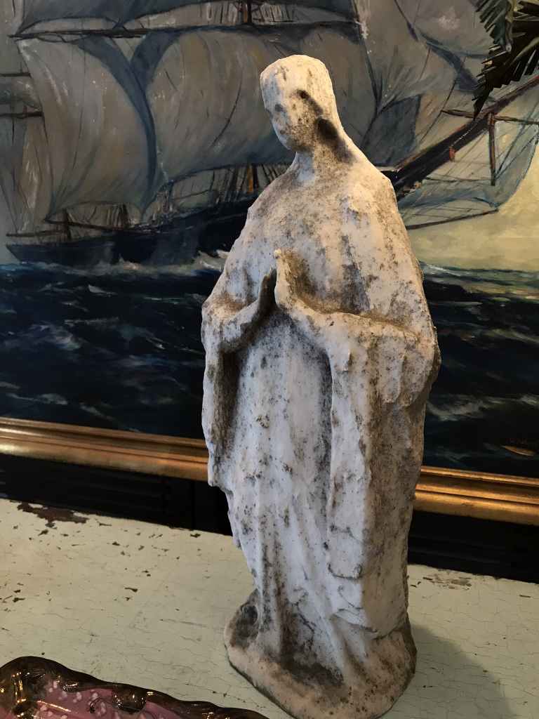 Distressed 19th C. Marble Mary