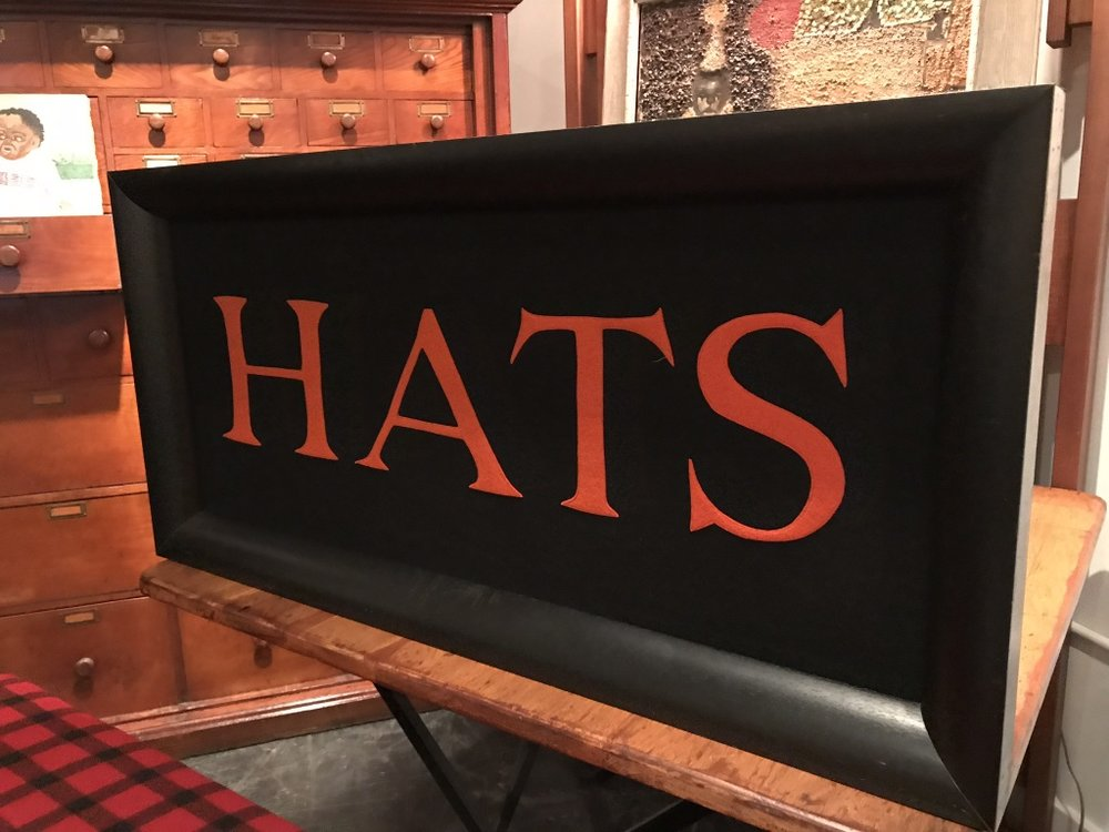 Early Century Framed Hat Display