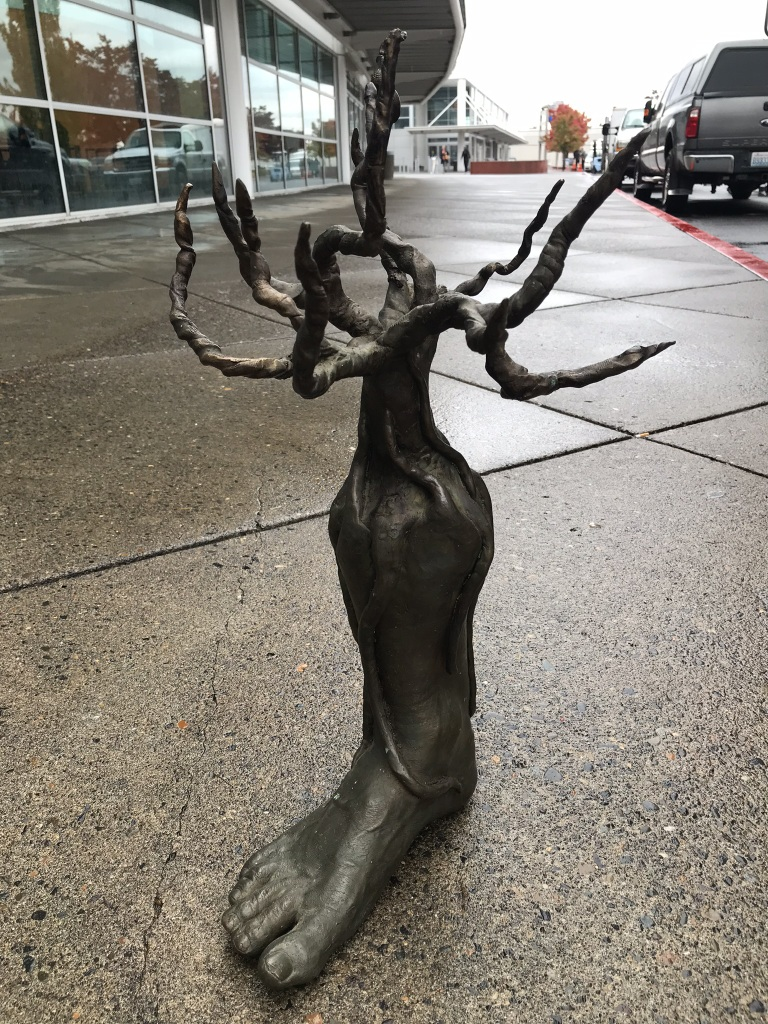 Cast Bronze Foot Tree Sculpture
