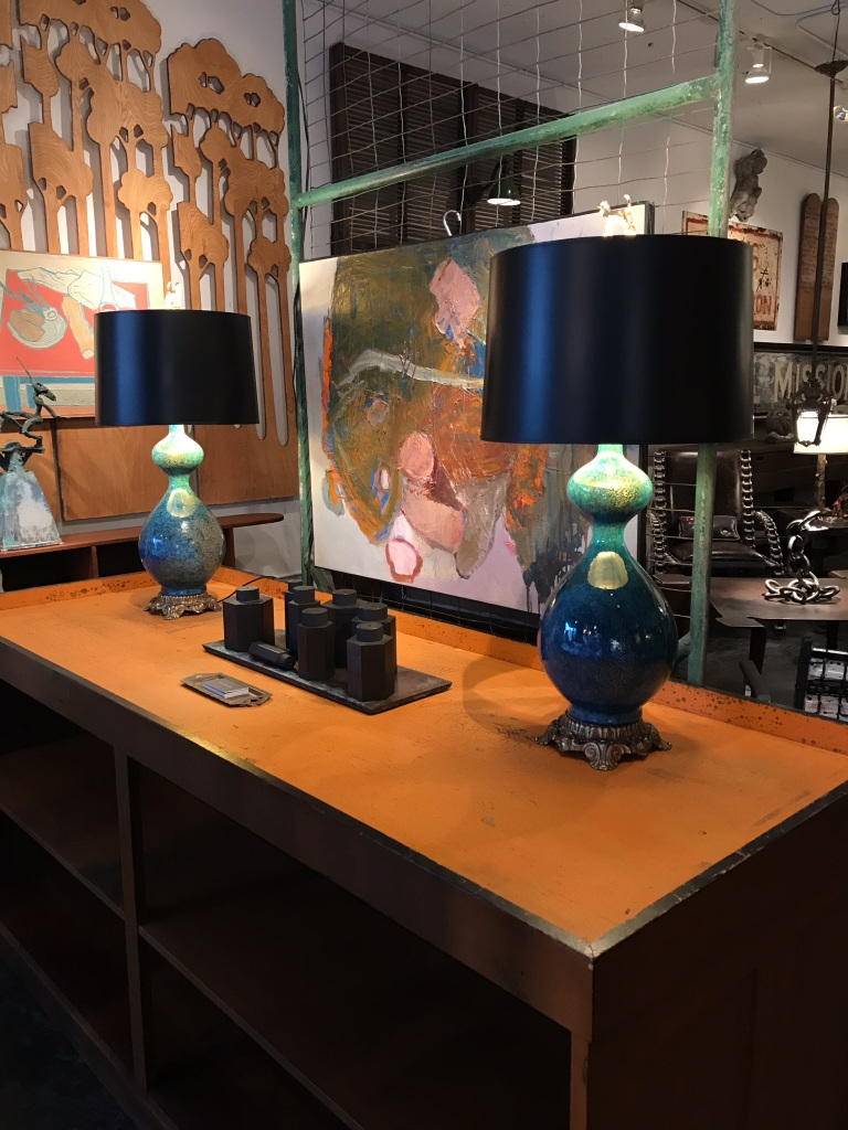 Lapis Blue Ceramic Lamps
