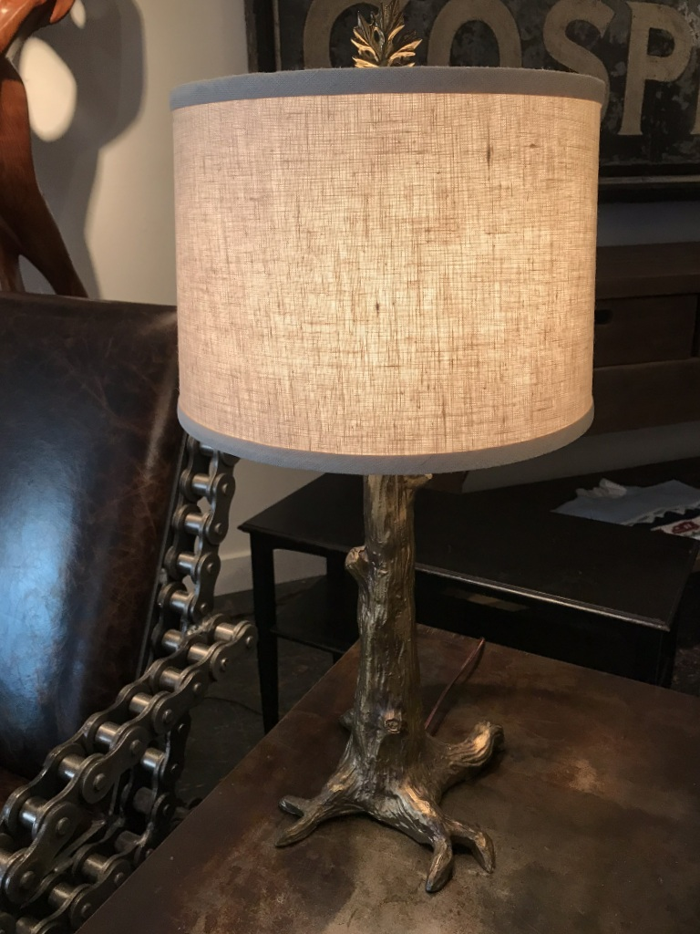 Cast Brass Tree Table Lamp
