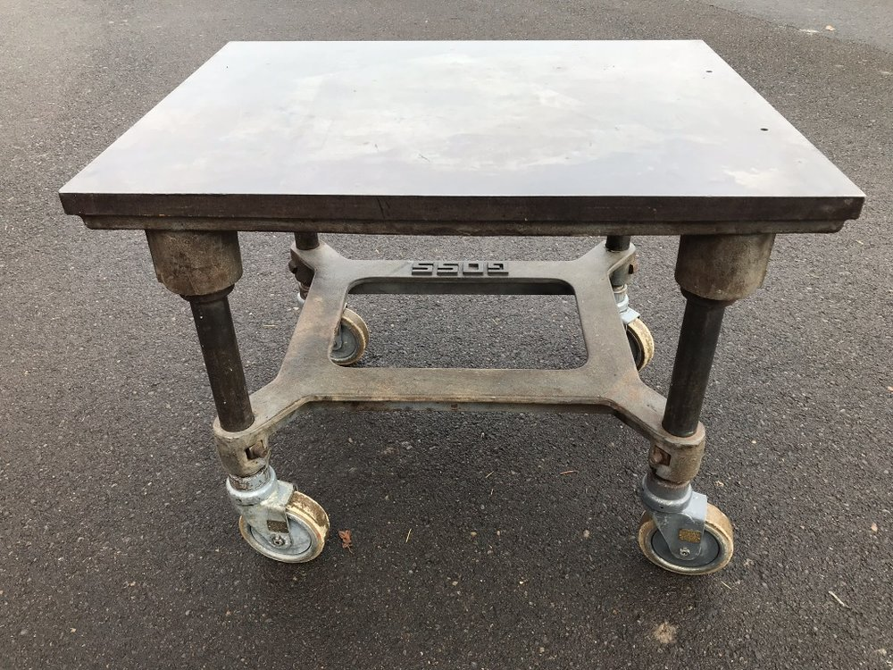 Steel Plate Side Table