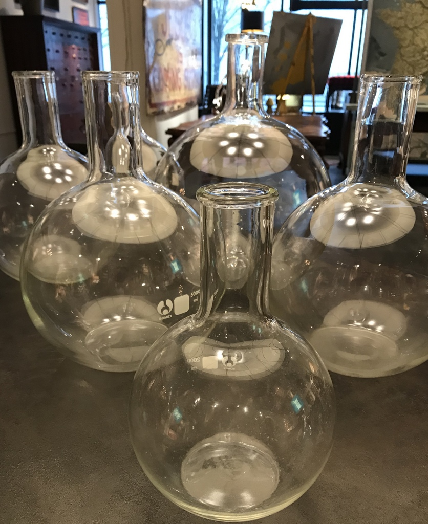 Vintage Glass Beakers
