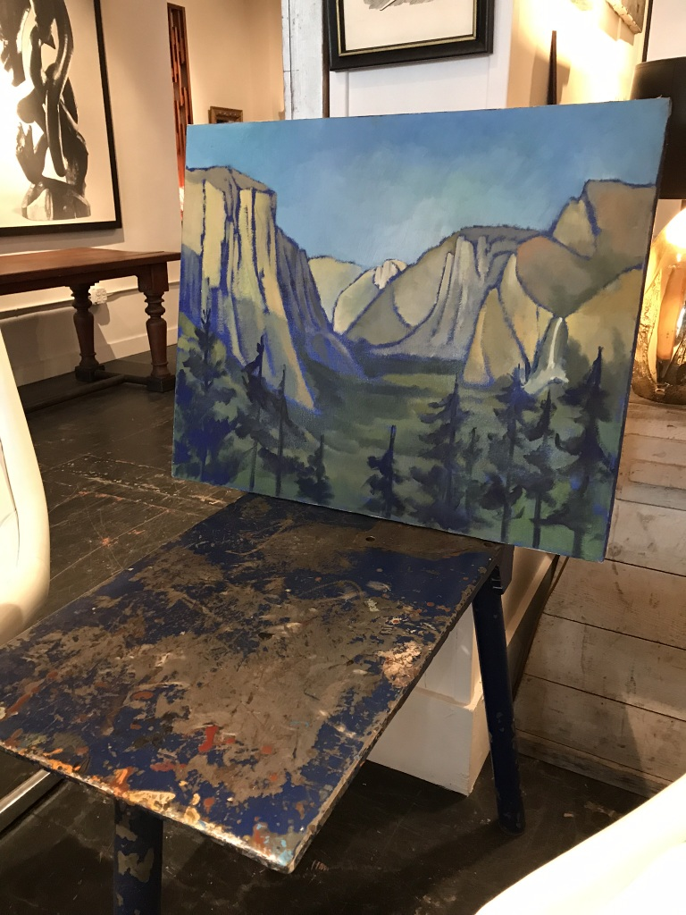 Colorful Painting of Yosemite Valley