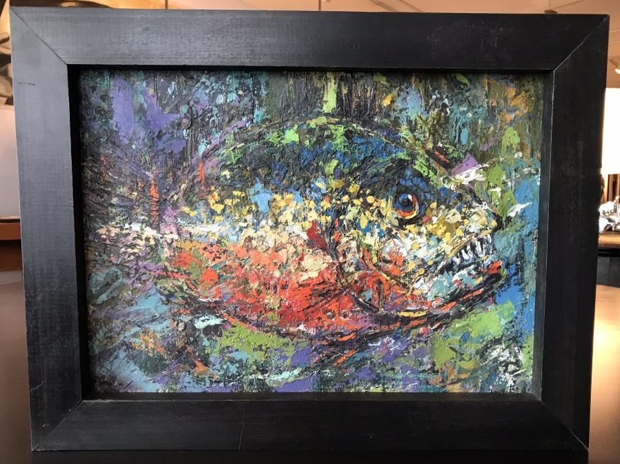 Textural Fish Painting