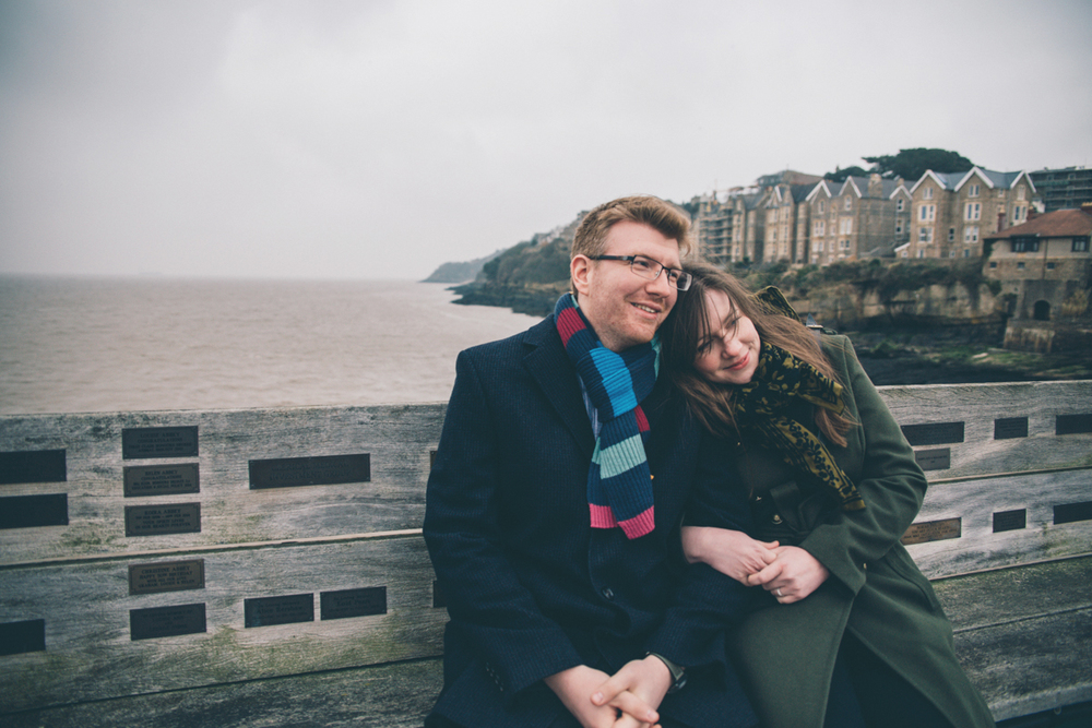 JAMES + ANNIKA CLEVEDON PIER PRESHOOT LOW-5.jpg