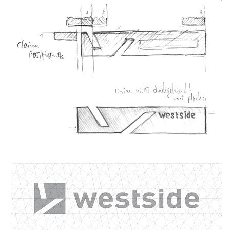 Westside Logoentwicklung für visu'l Agentur
