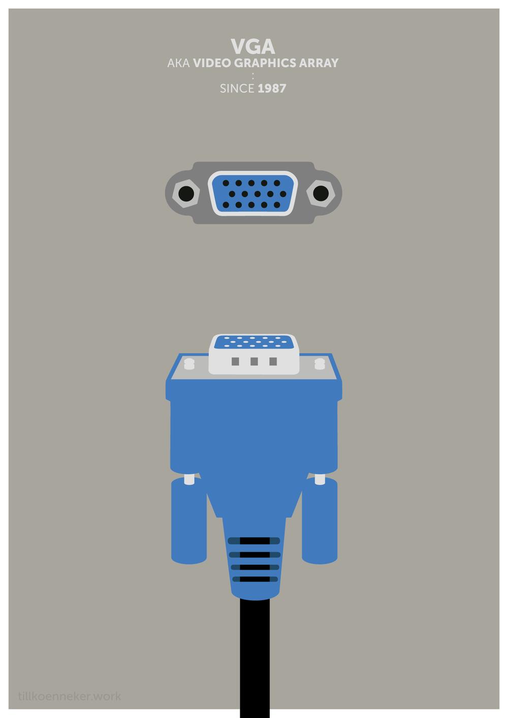 VGA plug poster