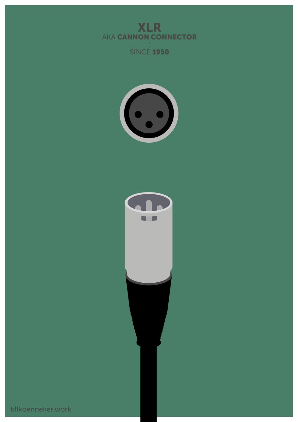 XLR plug poster