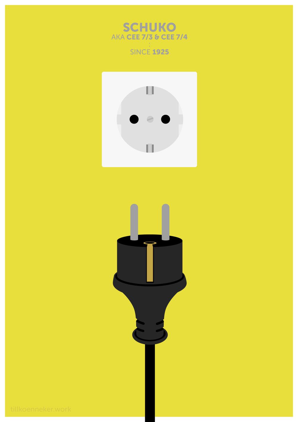 Power plug poster, schuko