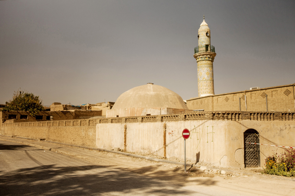 9 September, 2011 - Erbil, Iraqi Kurdistan   Mosque in the Erbil Citadel, known as the oldest continuously occupied site in the world dating back to the 5th millennium BC, possibly earlier.