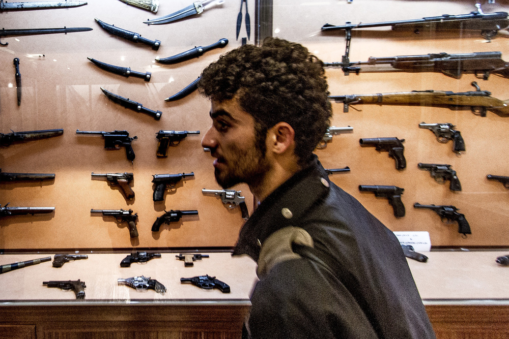 17 December, 2012 - Sulaymaniyah, Iraqi Kurdistan   Display of weapons used in the Kurdish resistance at Amna Suraka, now known as the 'Red Museum', where the Mukhabarat, Saddam Hussein's intelligence services, imprisoned and tortured Kurds from 1986 to 1991.