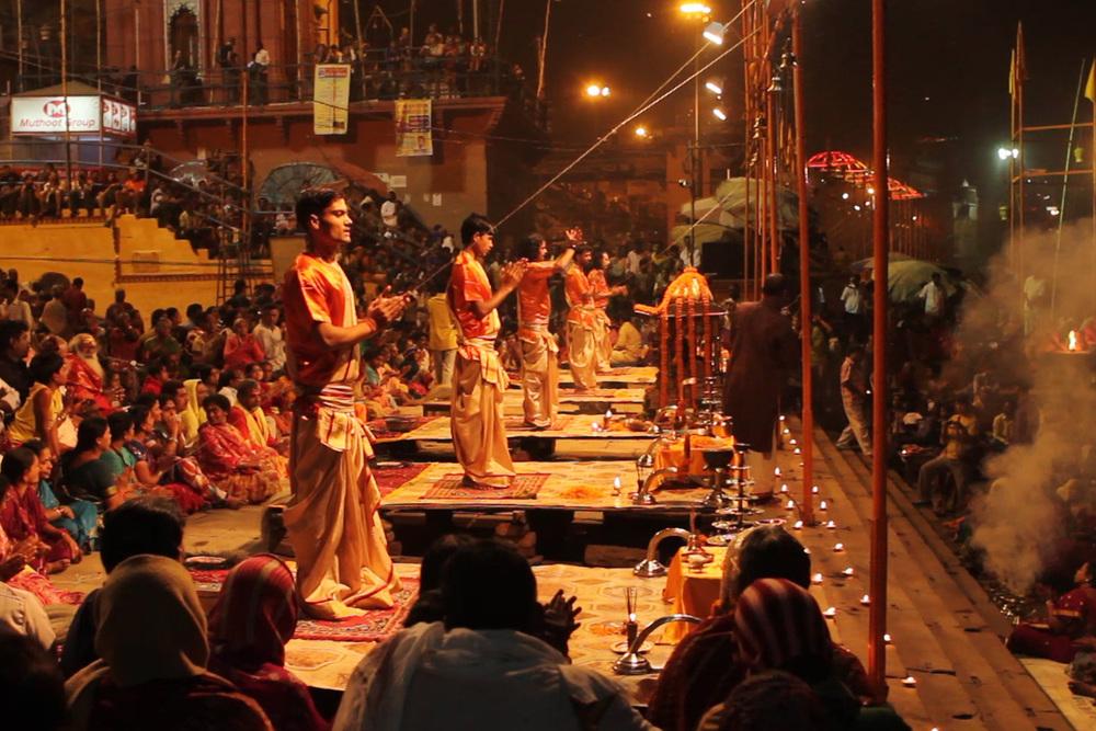 14 November, 2012 - Dashashwamedh Ghat, Varanasi   Ganga Aarti Ceremony