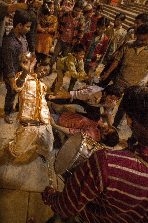 14 November, 2012 - Dashashwamedh Ghat, Varanasi   Kali Puja