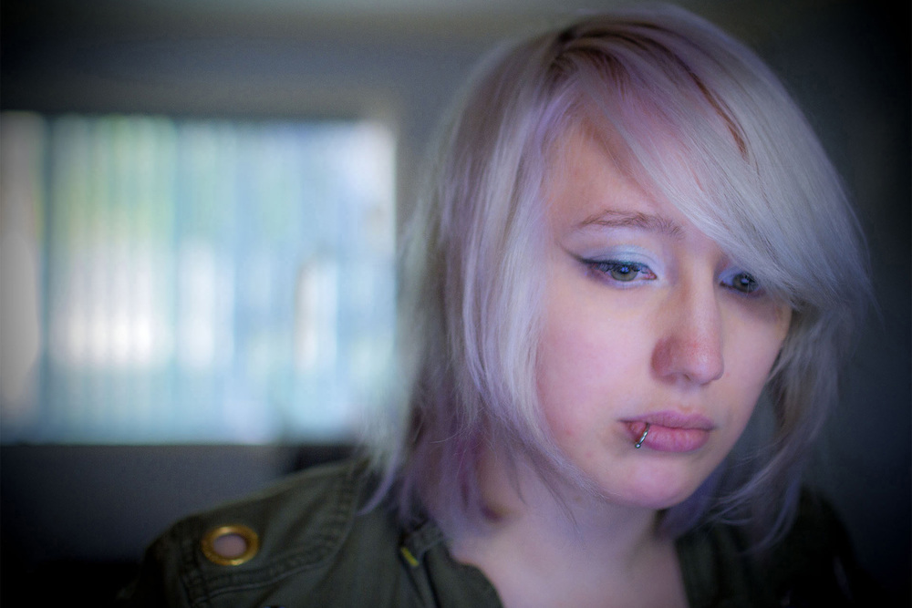 August 2014 - San Francisco, U.S.A.   Independent Video Game Developer Zoe Quinn working in hiding at the outset of 'Gamergate'