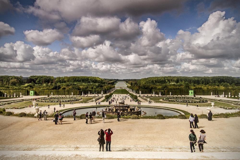 Château de Versailles, Paris   Bassin et parterre de Latone