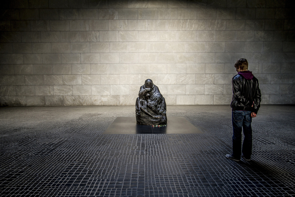 Neue Wache - 'Memorial of the Federal Republic of Germany for the Victims of War and Dictatorship', Berlin   Formerly a royal guardhouse, Neue Wache is now a war memorial and home to Käthe Kollwitz's 'Mother with her Dead Son'