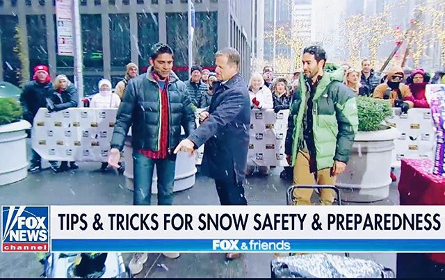 Owners @shanerduffy and @sandysdias giving @foxandfriends some snow safety tips and the best snow removal tools everyone needs in their garage!!