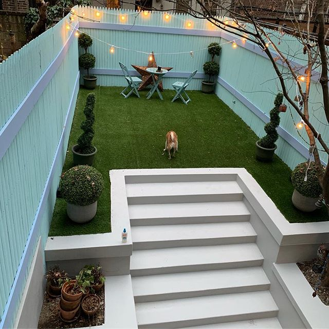 NYC East Village backyard renovation project complete.