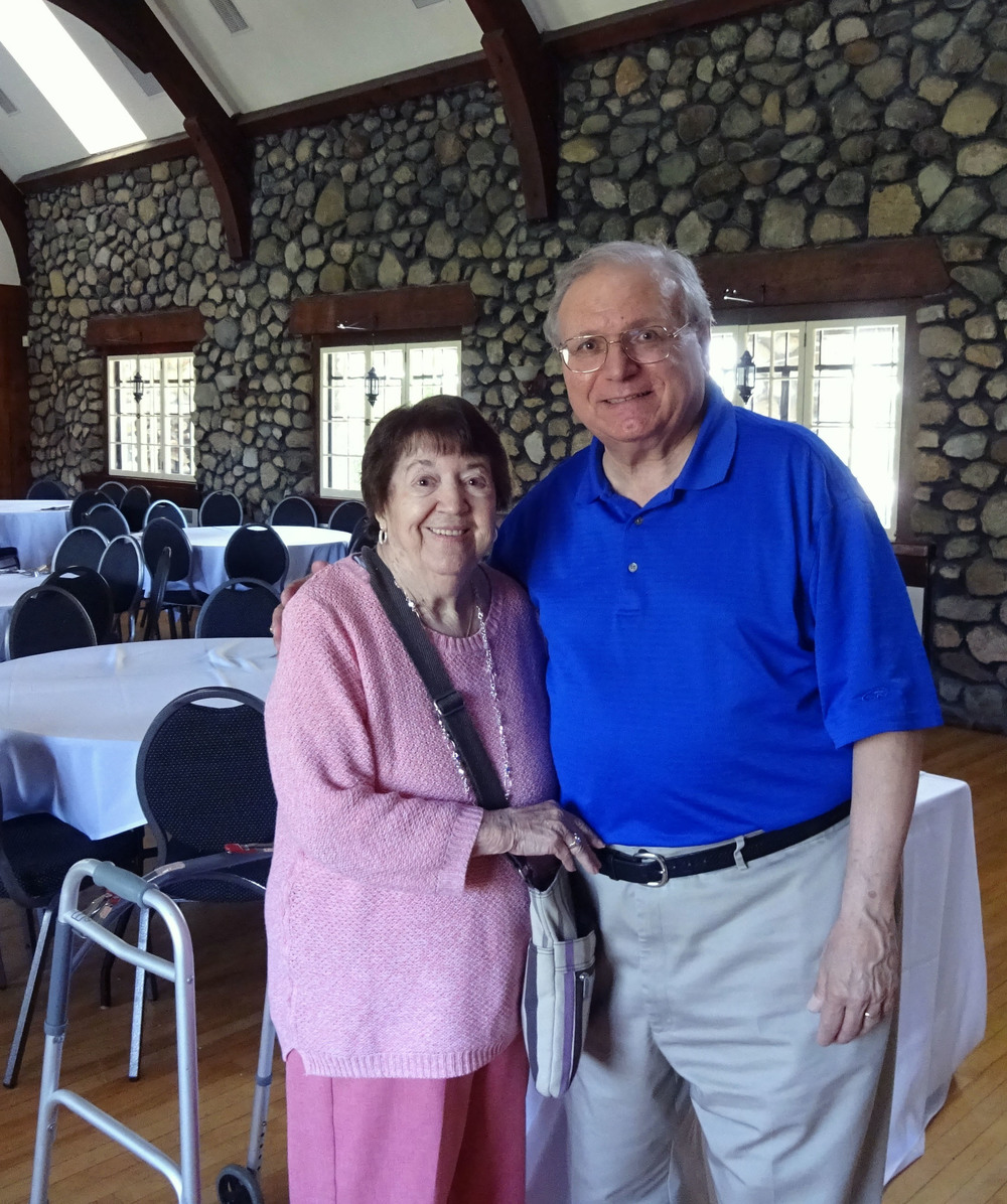 Association president Myron Dittmer with Helen Giorgio whose husband, Charlie, was one of the original founding members of the Mt. Hood Park Association back in 1971.
