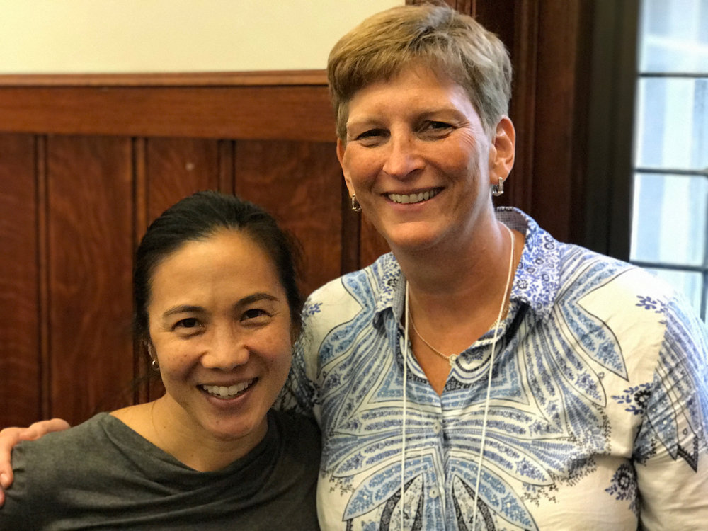 Me (starstruck) with Angela Duckworth on the first day of Research Methods.