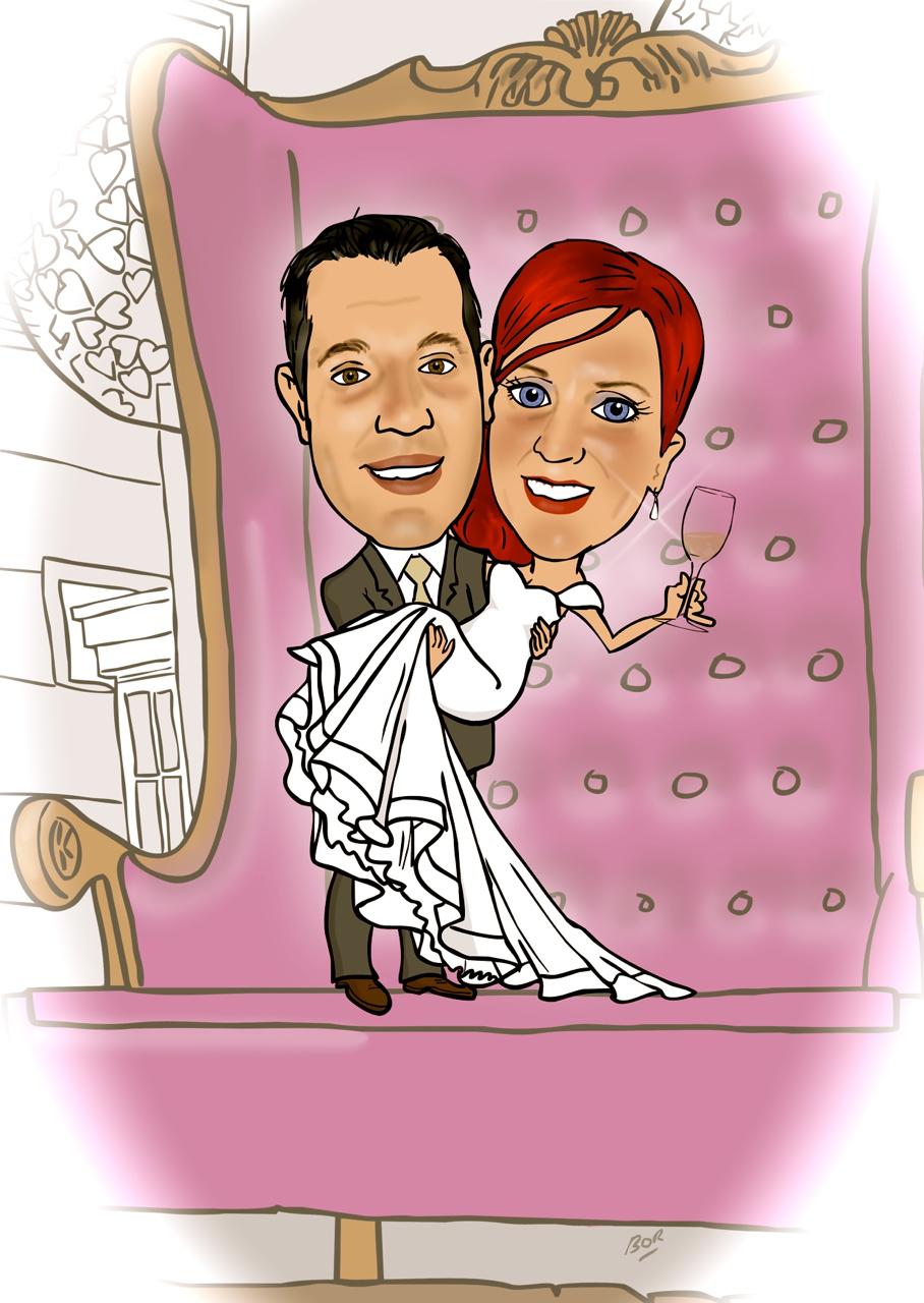 Wedding Invite Cartoon — Caricature Gifts Ireland