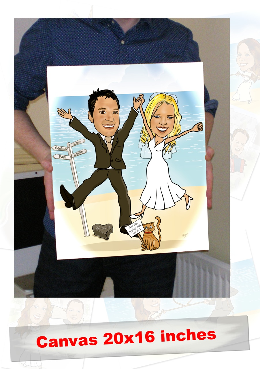 Wedding Gift Caricature On Canvas Caricature Gifts Ireland
