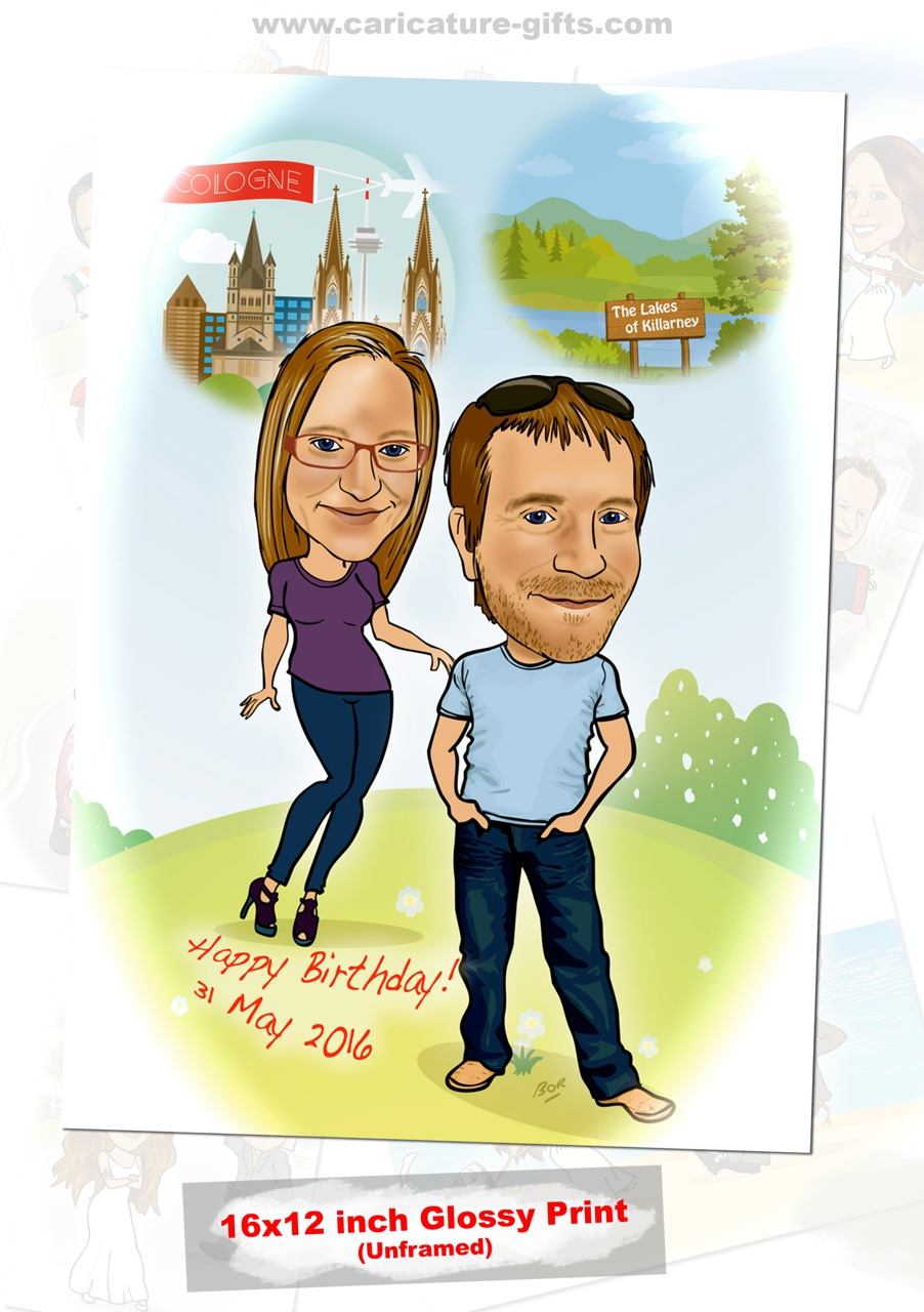 Caricature For 40th Birthday Gift
