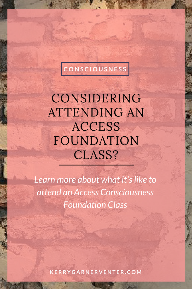 Are you considering attending an Access Foundation class?