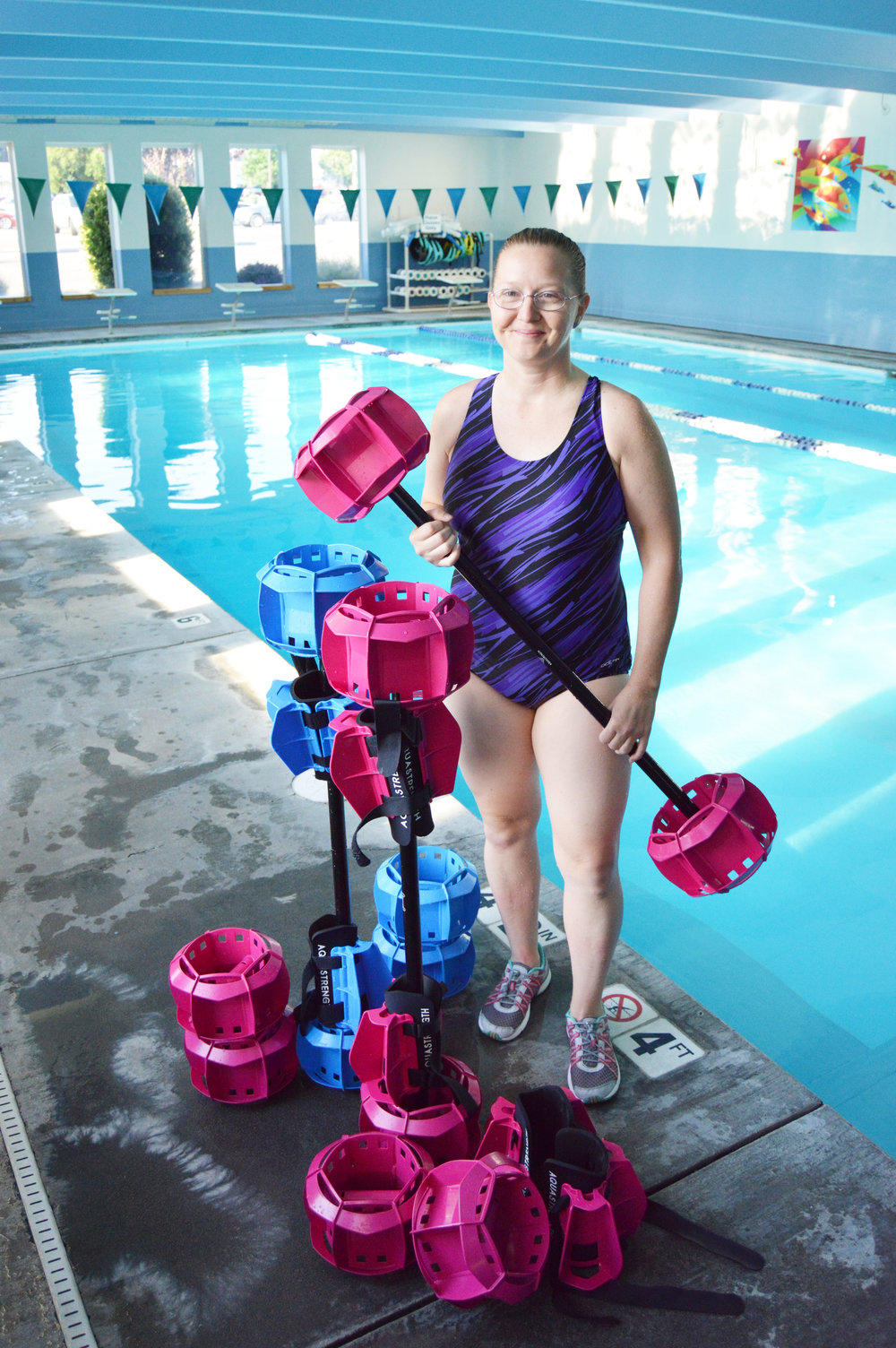 Kelli dunfee, aquatic fitness director.