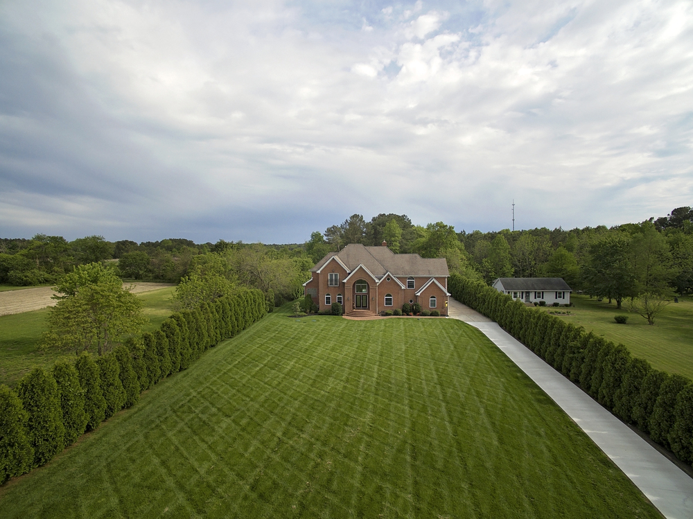 Here she is-Aerial view of the property.