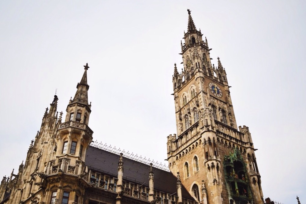 The Neues Rathaus (New Town Hall) in Marienplatz.