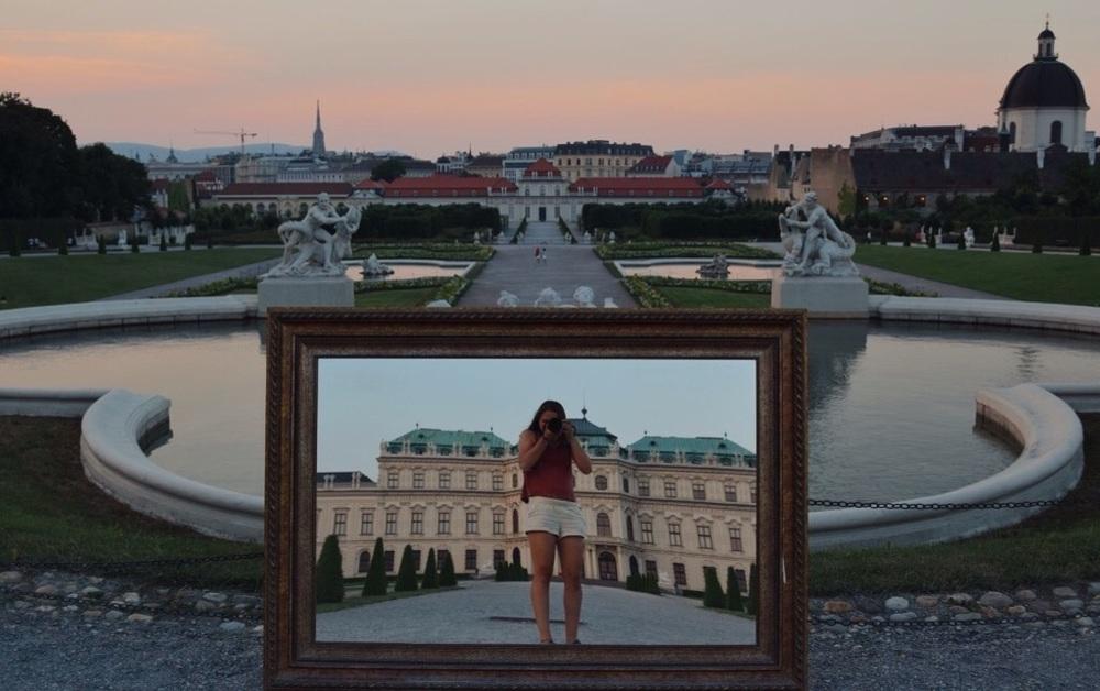 Amazing photo ops in Belvederegarten.