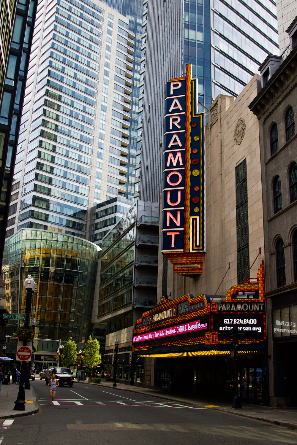 Paramount Theatre half a block away from my brother's apartment.