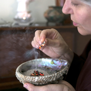 reiki burning sage