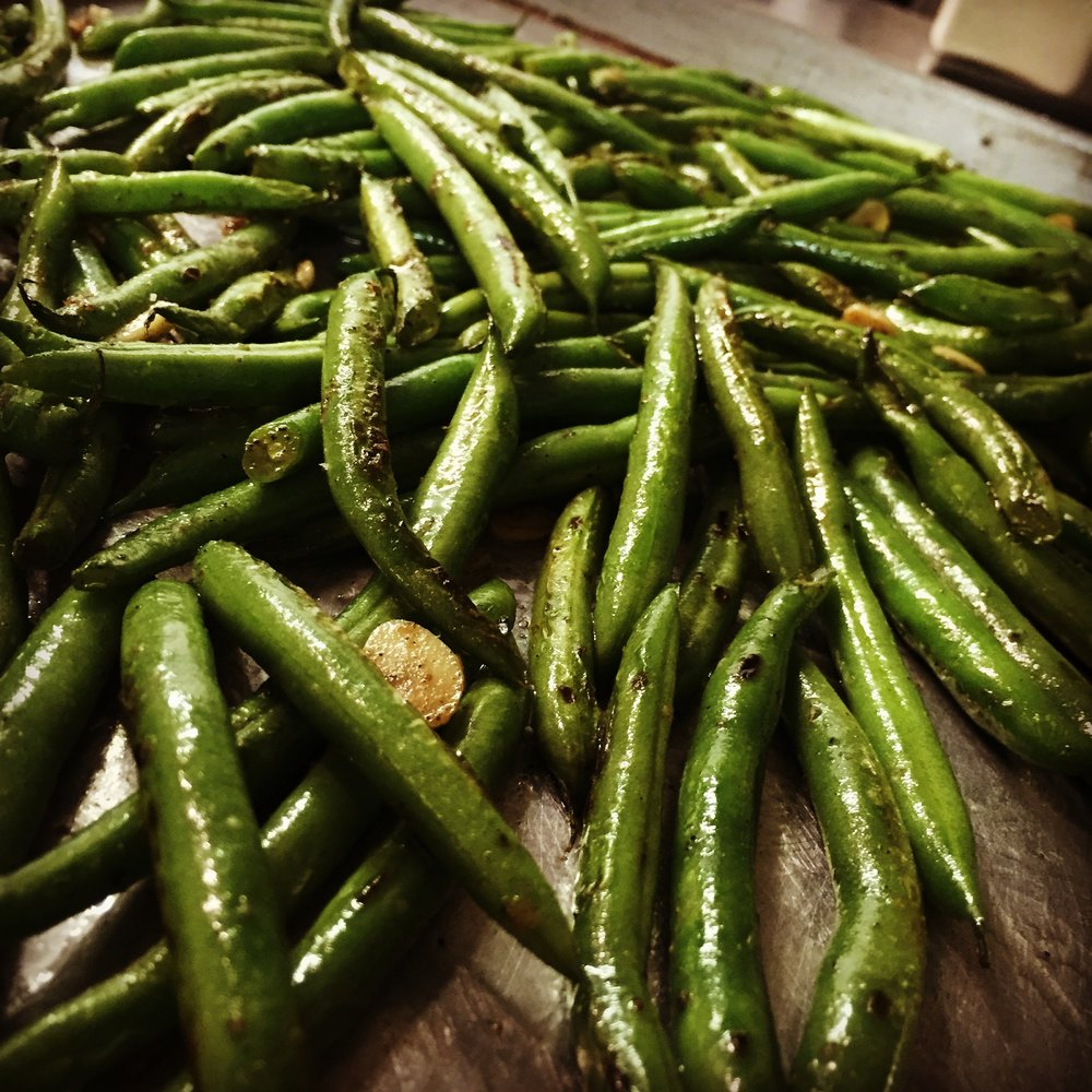 Our fabulous garlic green beans