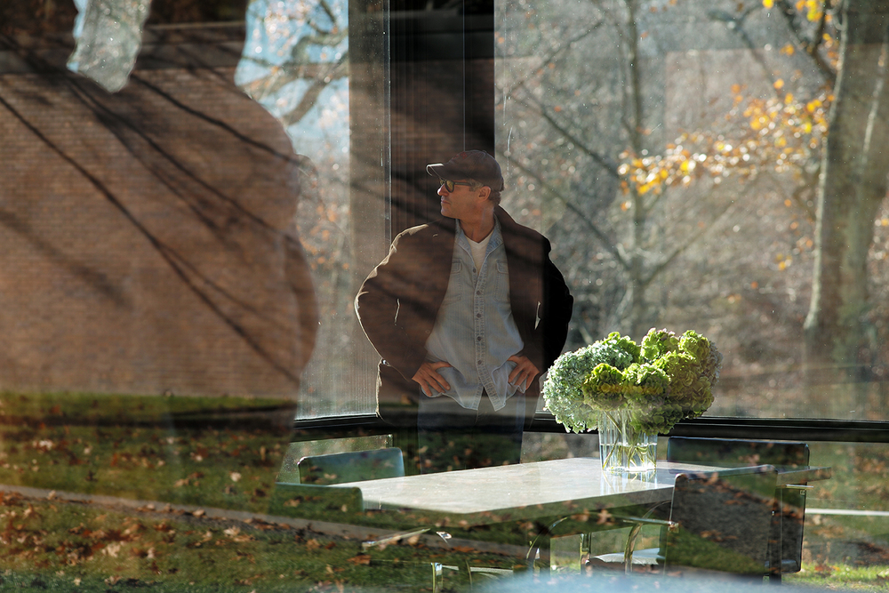 Founder Damon Brandt at Glass House, New Canaan, CT  |  Photograph by  Andrew Zuckerman