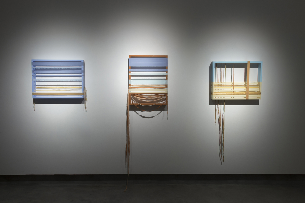 Twenty-Two x Twenty-Six  ( Pillow Series ). 2015  Bed linens and painted wood  Photo credit: Checko Salgado / Focalchrome