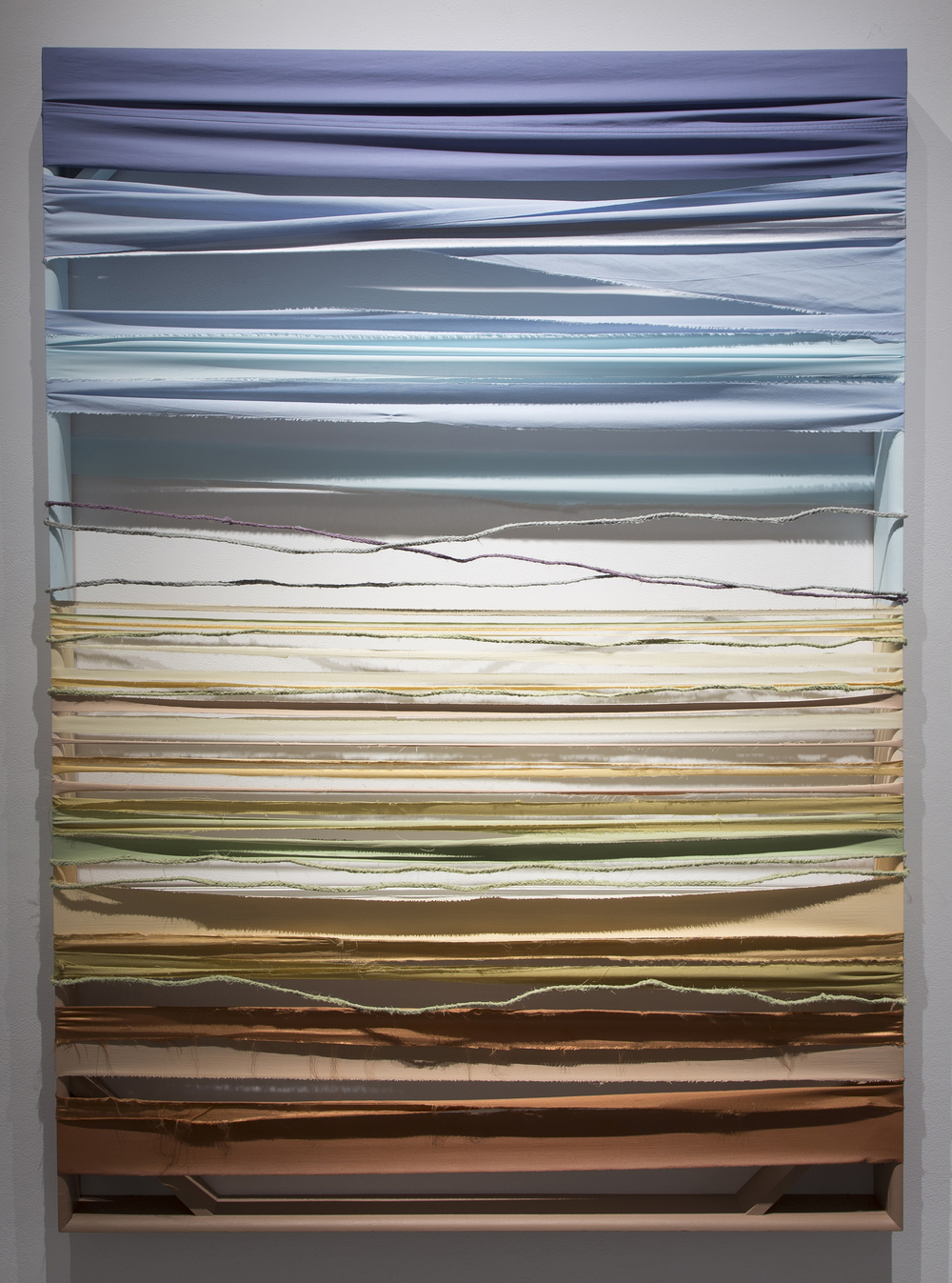 Seventy-Five x Fifty-Four  ( Double ). 2014  Bed linens, canvas, wire & painted wood  Photo credit: Checko Salgado / Focalchrome